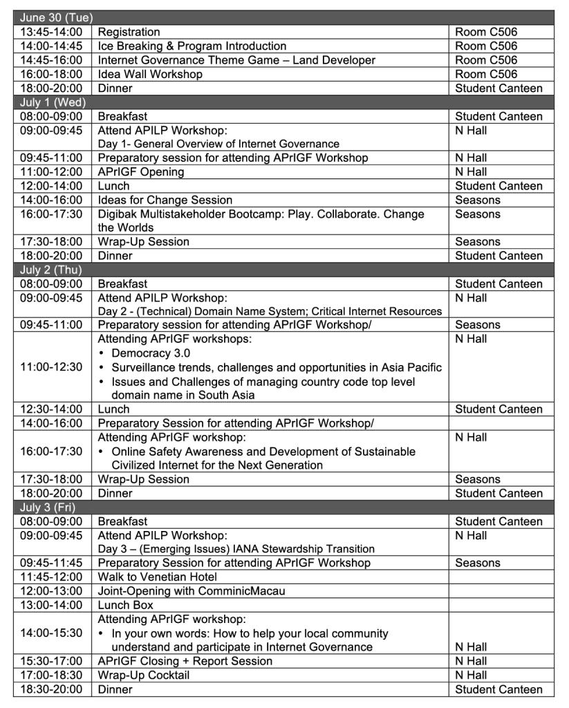 YIGF2015_Agenda